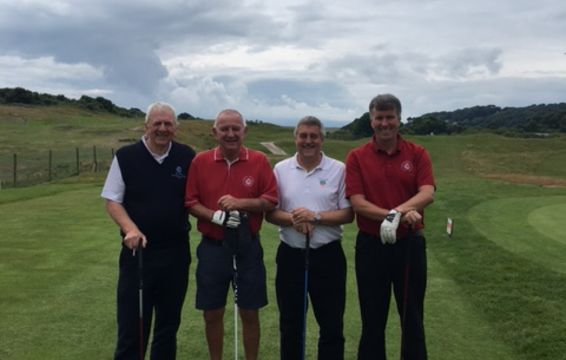 Wales vs England 2017 - The Captains' Match Leads The Match Out @ Tenby GC