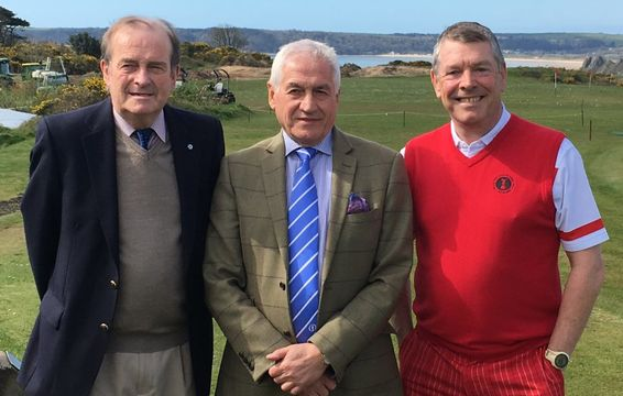 GCMA CEO, Bob Williams with Past Captains Colin Duffield & David Fellowes